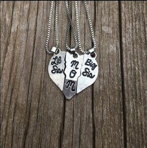 Jewelry - Mom, big sis, lil sis necklace set - NWT
